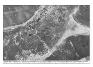 Bjældskovdal set fra luften i 1954, 4 år efter fundet af Tollundmanden.